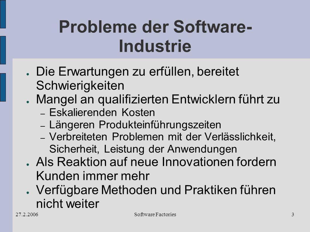 Software Factories27.2.200614 Software Factory Schema
