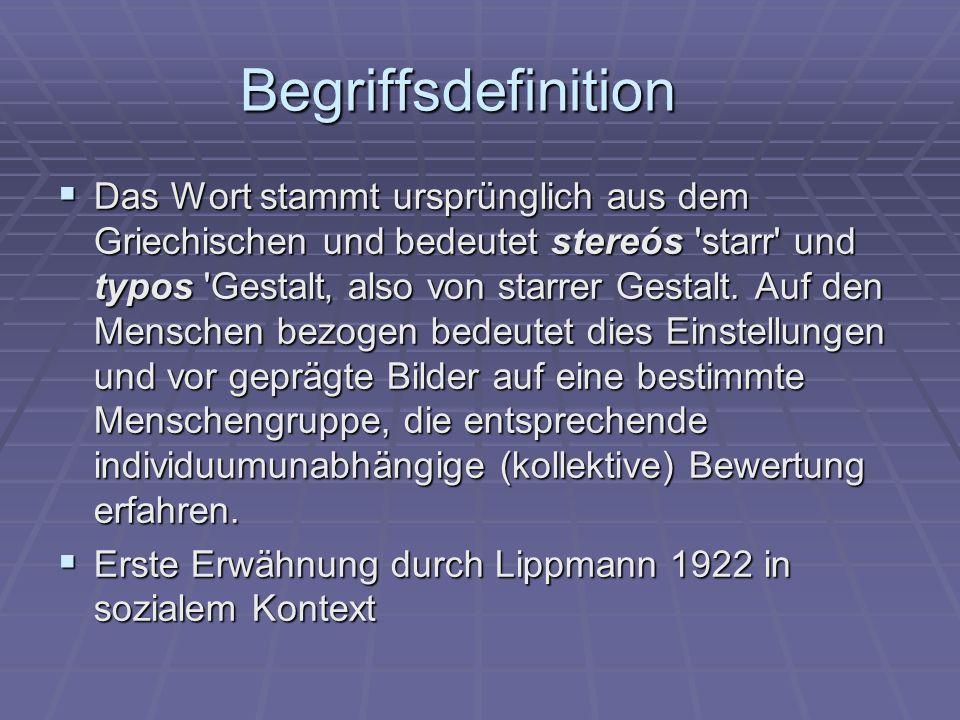 Begriffsdefinition Das Wort stammt ursprünglich aus dem Griechischen und bedeutet stereós 'starr' und typos 'Gestalt also von starrer Gestalt. Auf den