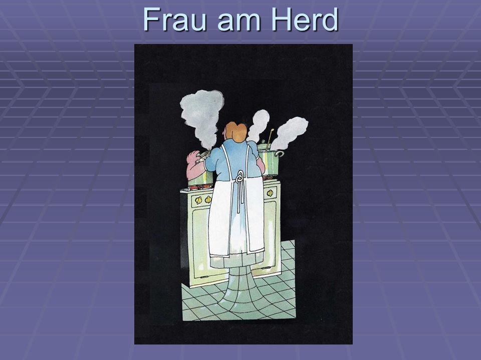 Frau am Herd