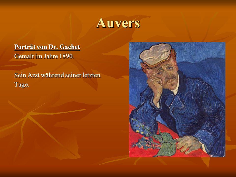Auvers Porträt von Dr. Gachet Gemalt im Jahre 1890. Sein Arzt während seiner letzten Tage.