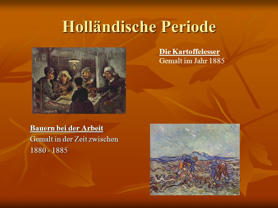 Holländische Periode Die Kartoffelesser Gemalt im Jahr 1885 Bauern bei der Arbeit Gemalt in der Zeit zwischen 1880 - 1885