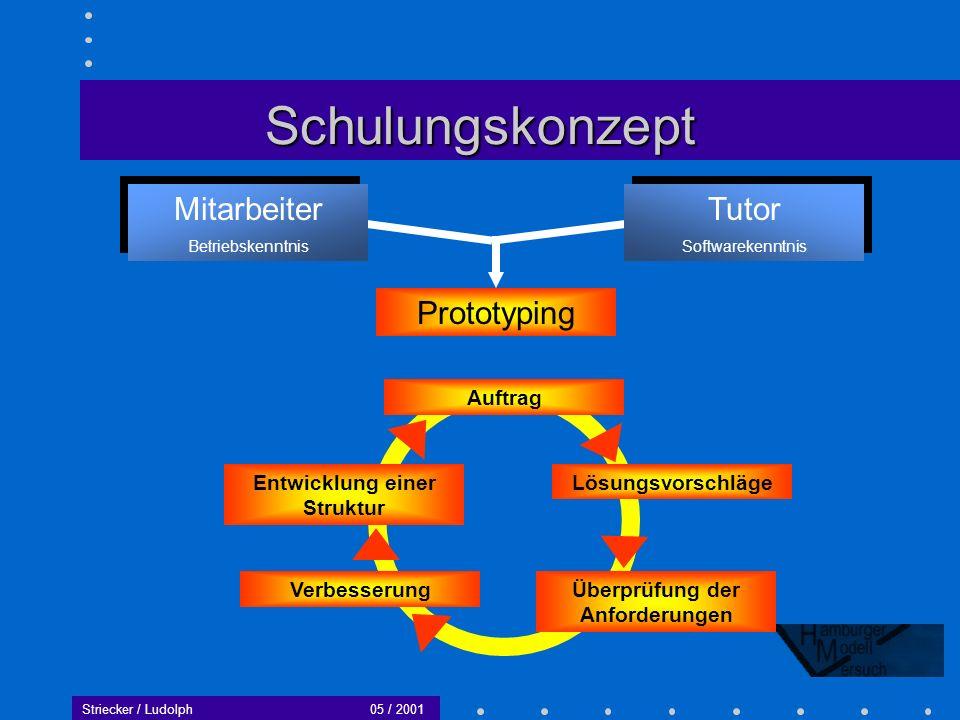 Striecker / Ludolph05 / 2001 Ein Kooperationsprojekt der: TU-Technologie GmbH Technische Universität Hamburg-Harburg Fachverband Holz und Kunststoff Hamburg Gefördert durch die Innovationsstiftung Hamburg Staatlichen Gewerbeschule