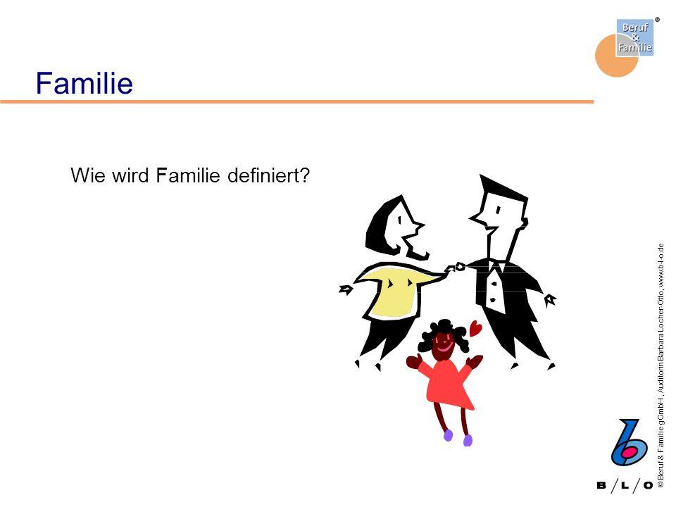 © Beruf & Familie gGmbH, Auditorin Barbara Locher-Otto, www.b-l-o.de Familie Wie wird Familie definiert?