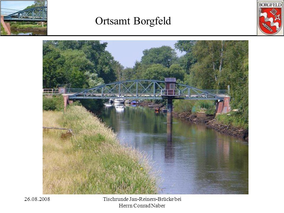 26.08.2008Tischrunde Jan-Reiners-Brücke bei Herrn Conrad Naber Ortsamt Borgfeld