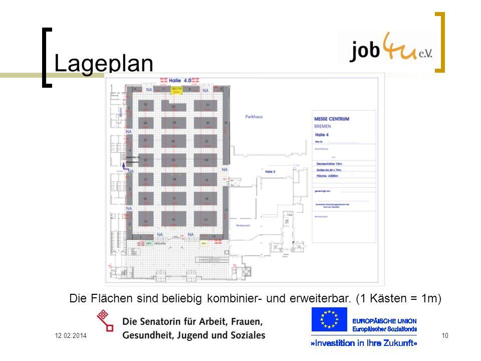 12.02.201410 Lageplan Die Flächen sind beliebig kombinier- und erweiterbar. (1 Kästen = 1m)