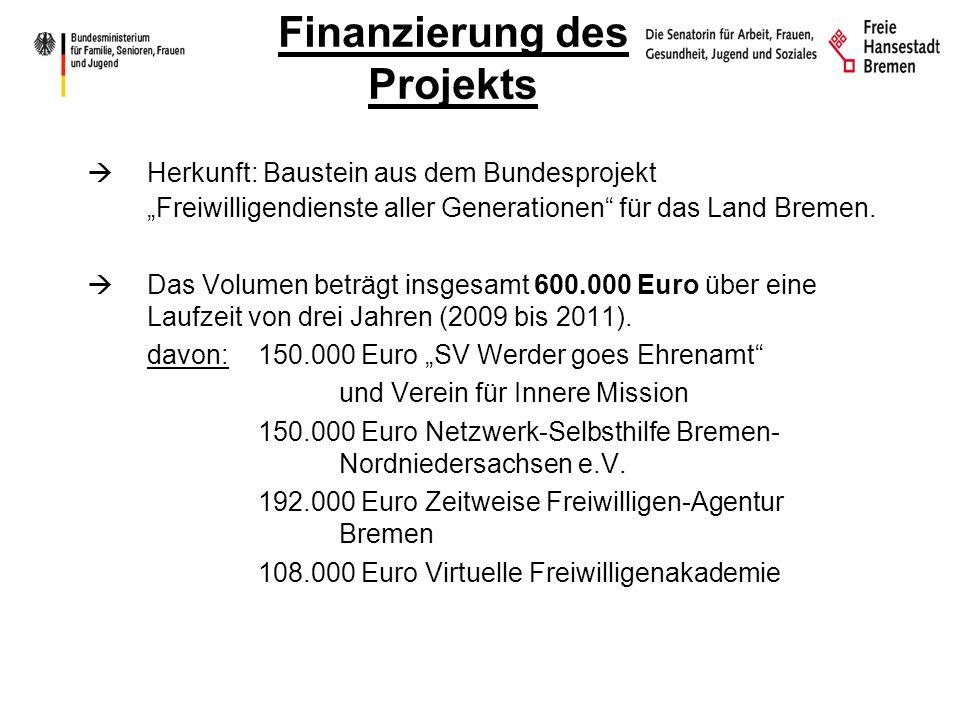 Finanzierung des Projekts Herkunft: Baustein aus dem Bundesprojekt Freiwilligendienste aller Generationen für das Land Bremen.