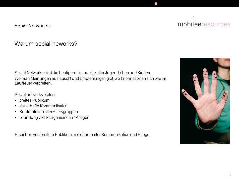 2 Warum social neworks? Social Networks Social Networks sind die heutigen Treffpunkte aller Jugendlichen und Kindern. Wo man Meinungen austauscht und