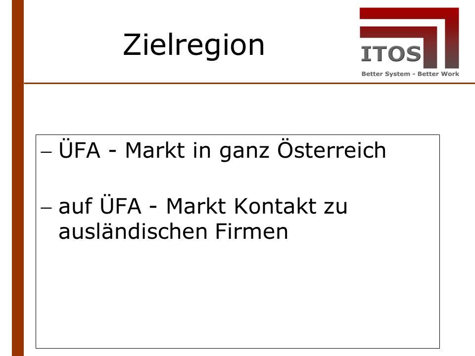 Zielregion ÜFA - Markt in ganz Österreich auf ÜFA - Markt Kontakt zu ausländischen Firmen