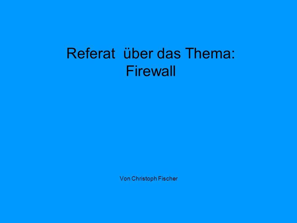 Inhalt 1.Was bedeutet Firewall. 2. Aufgabe der Firewall 3.Welche Typen von Firewalls gibt es 4.