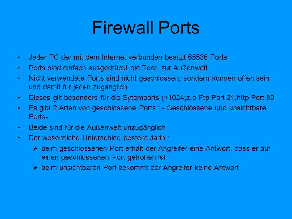 Produktvergleich Personal-Firewall: Die einfachste Version ist in der aktuellen Windows XP Version integriert Shareware Produkte : von kostenlos bis preiswert.