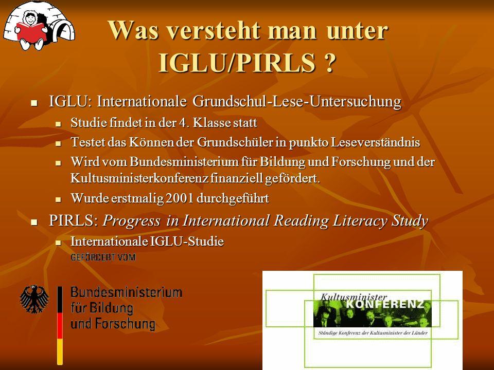 Was versteht man unter IGLU/PIRLS .