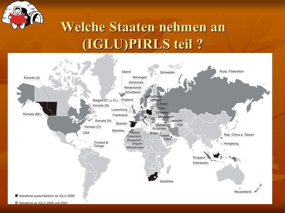 Welche Staaten nehmen an (IGLU)PIRLS teil ?
