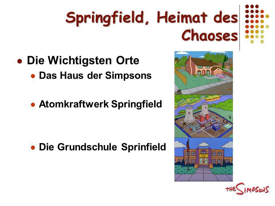 Springfield, Heimat des Chaoses Die Wichtigsten Orte Das Haus der Simpsons Atomkraftwerk Springfield Die Grundschule Sprinfield