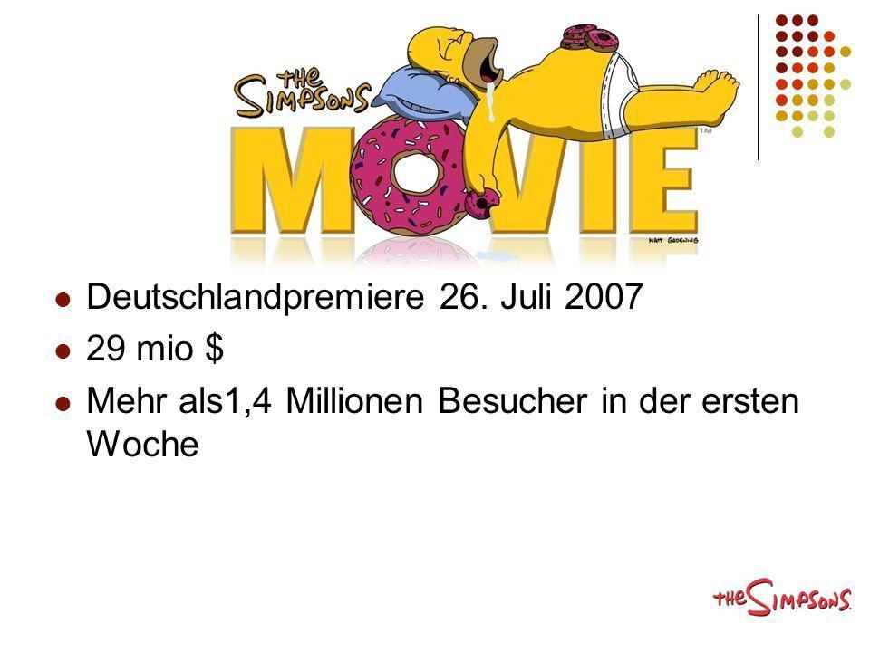 Deutschlandpremiere 26. Juli 2007 29 mio $ Mehr als1,4 Millionen Besucher in der ersten Woche