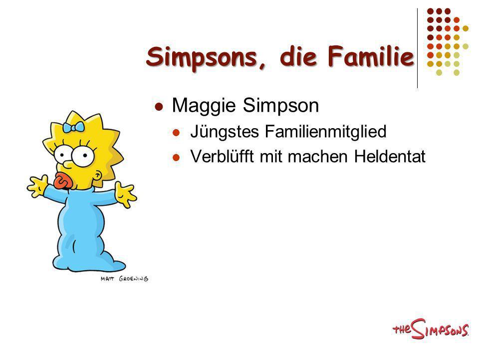 Simpsons, die Familie Maggie Simpson Jüngstes Familienmitglied Verblüfft mit machen Heldentat