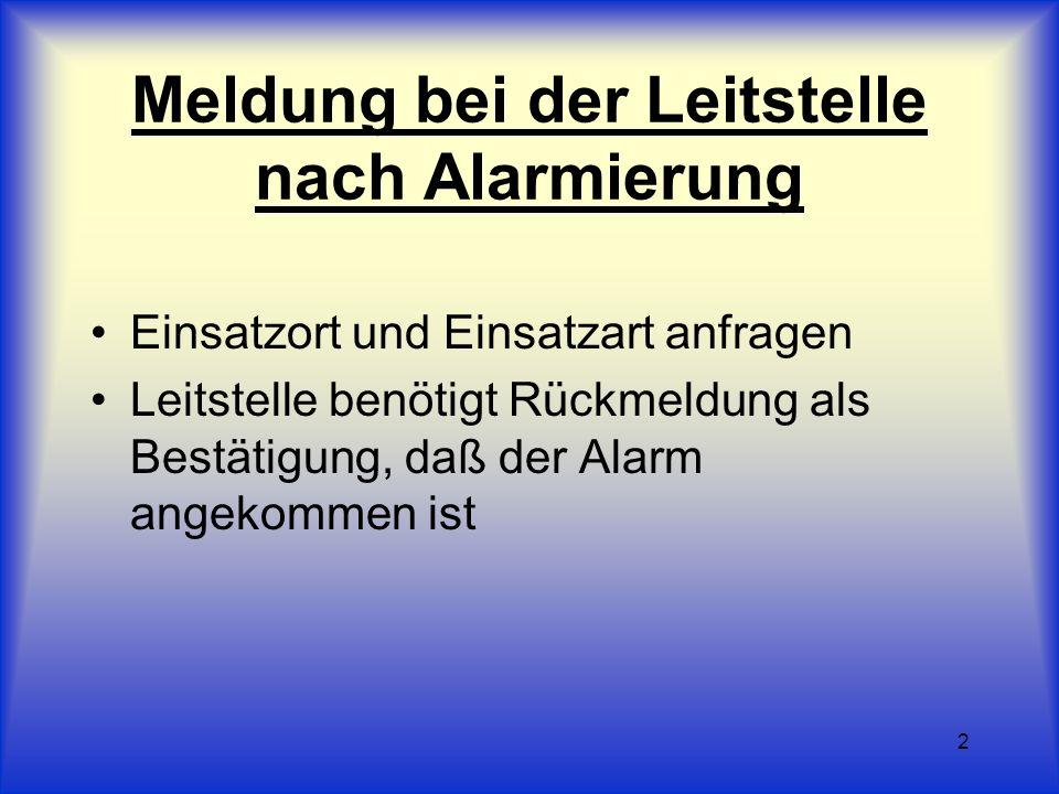 3 Beispiel Leitstelle Main-Kinzig von Florian 221/47 - kommen Hier Leitstelle Main-Kinzig, Ihr Einsatzort Hauptstraße 1 - dort Zimmerbrand Einsatzort Hauptstraße 1 - dort Zimmerbrand Ja richtig - kommen Verstanden - Ende