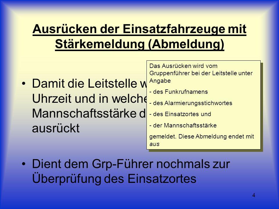 5 Beispiel Leitstelle Main-Kinzig von Florian 221/47 - kommen Hier Leitstelle Main-Kinzig - kommen Florian 221/47 - zum Zimmerbrand Hauptstraße 1 - mit 1/8 aus Verstanden - Ende