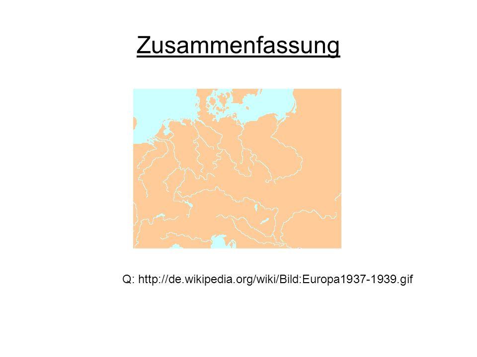 Zusammenfassung Q: http://de.wikipedia.org/wiki/Bild:Europa1937-1939.gif