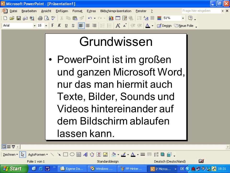 Guten Morgen! Was machen wir heute? Wir zeigen euch heute wie man eine PowerPoint - Präsentation erstellt.