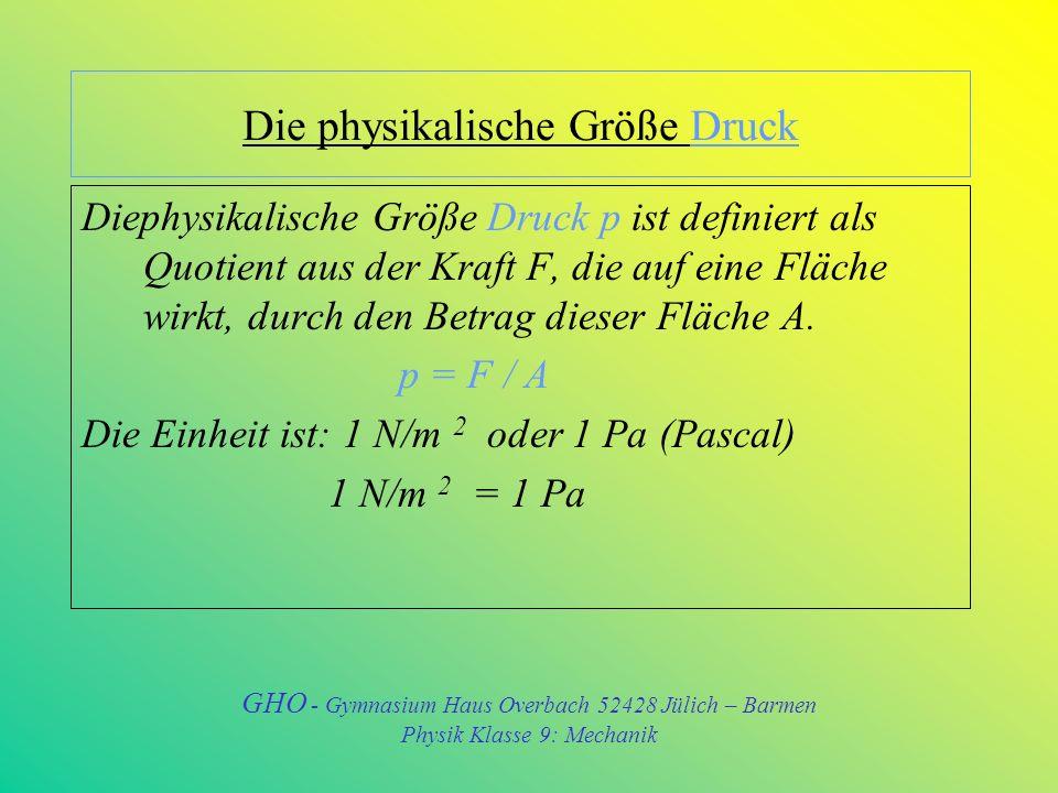 Die physikalische Größe Dichte Die Dichte ist eine Eigenschaft, die jeder Körper hat, sie ist von Stoff zu Stoff unterschiedlich.