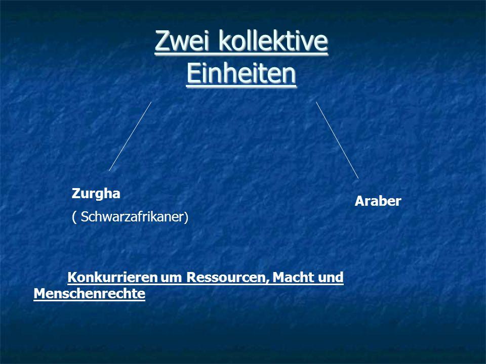 Zwei kollektive Einheiten Zurgha ( Schwarzafrikaner ) Araber Konkurrieren um Ressourcen, Macht und Menschenrechte