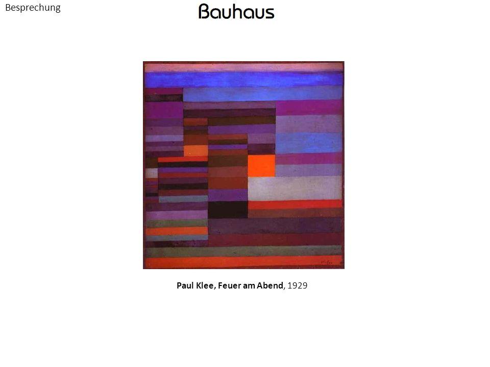 Besprechung Paul Klee, Feuer am Abend, 1929
