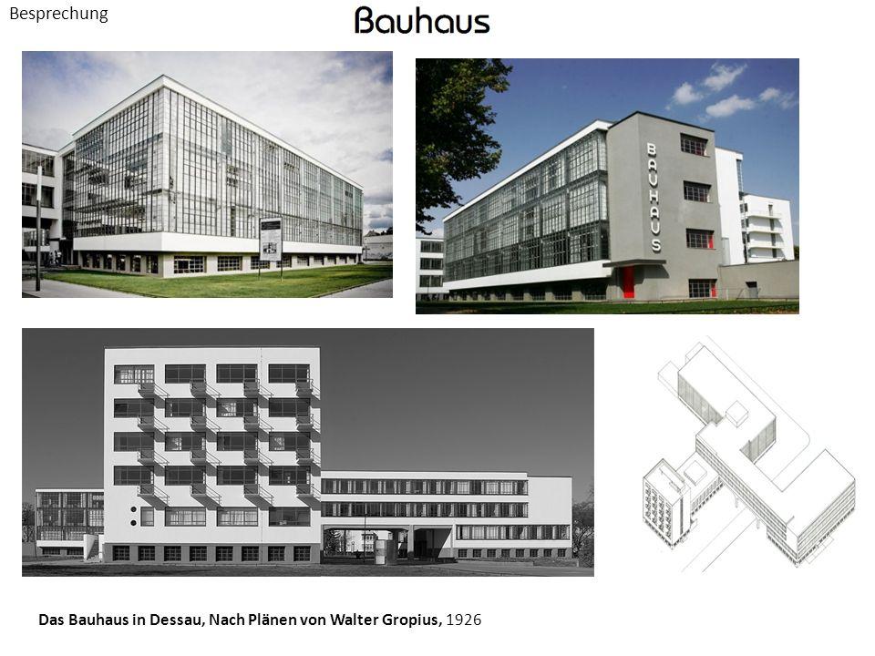 Besprechung Das Bauhaus in Dessau, Nach Plänen von Walter Gropius, 1926