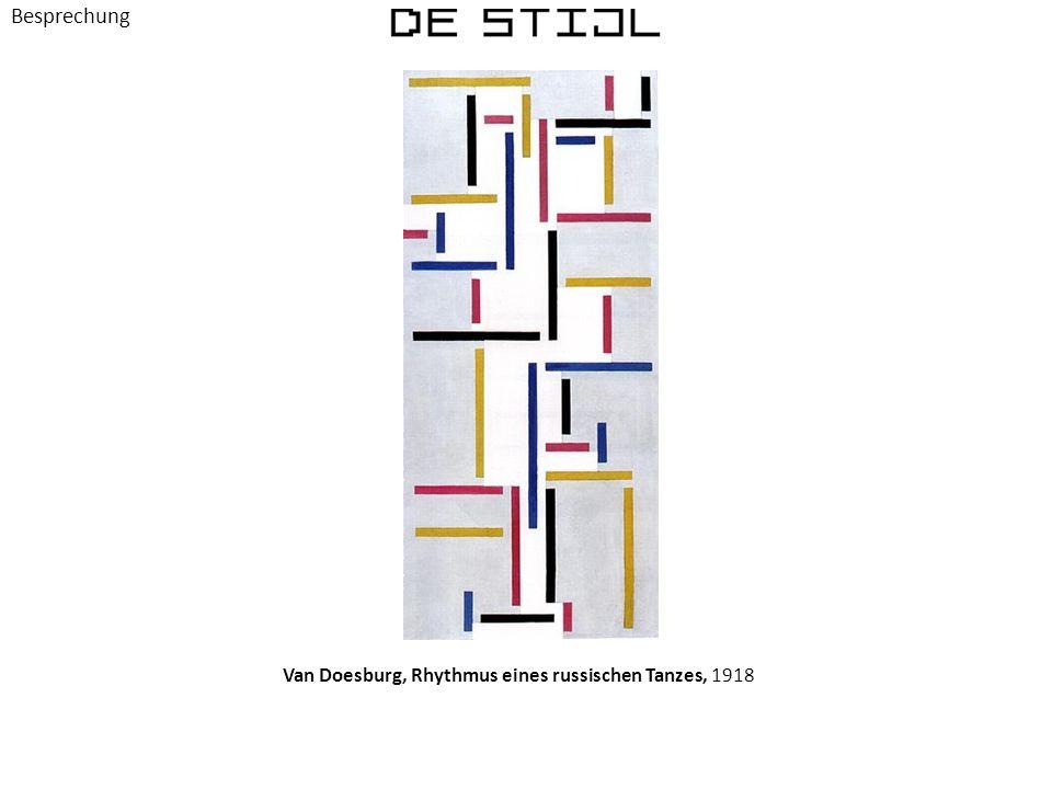 Van Doesburg, Rhythmus eines russischen Tanzes, 1918 Besprechung