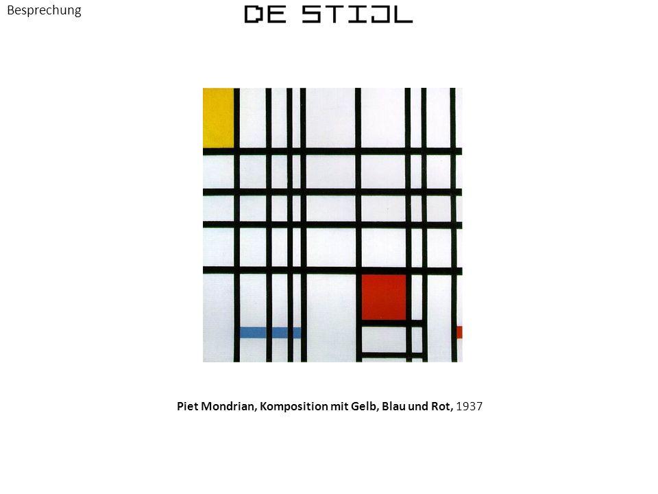 Piet Mondrian, Komposition mit Gelb, Blau und Rot, 1937