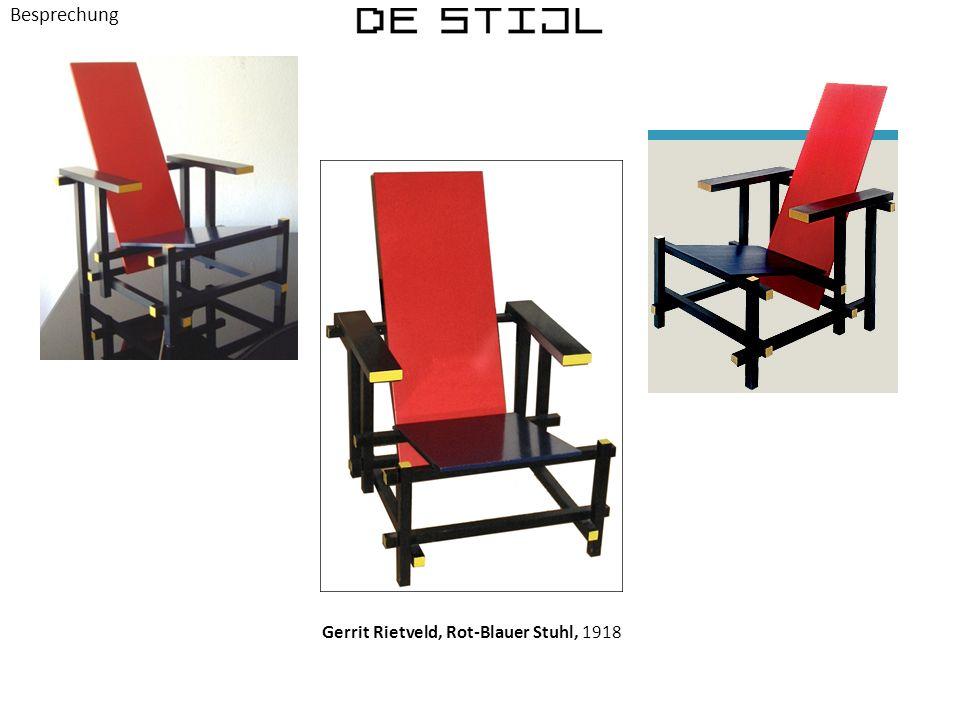 Besprechung Gerrit Rietveld, Rot-Blauer Stuhl, 1918