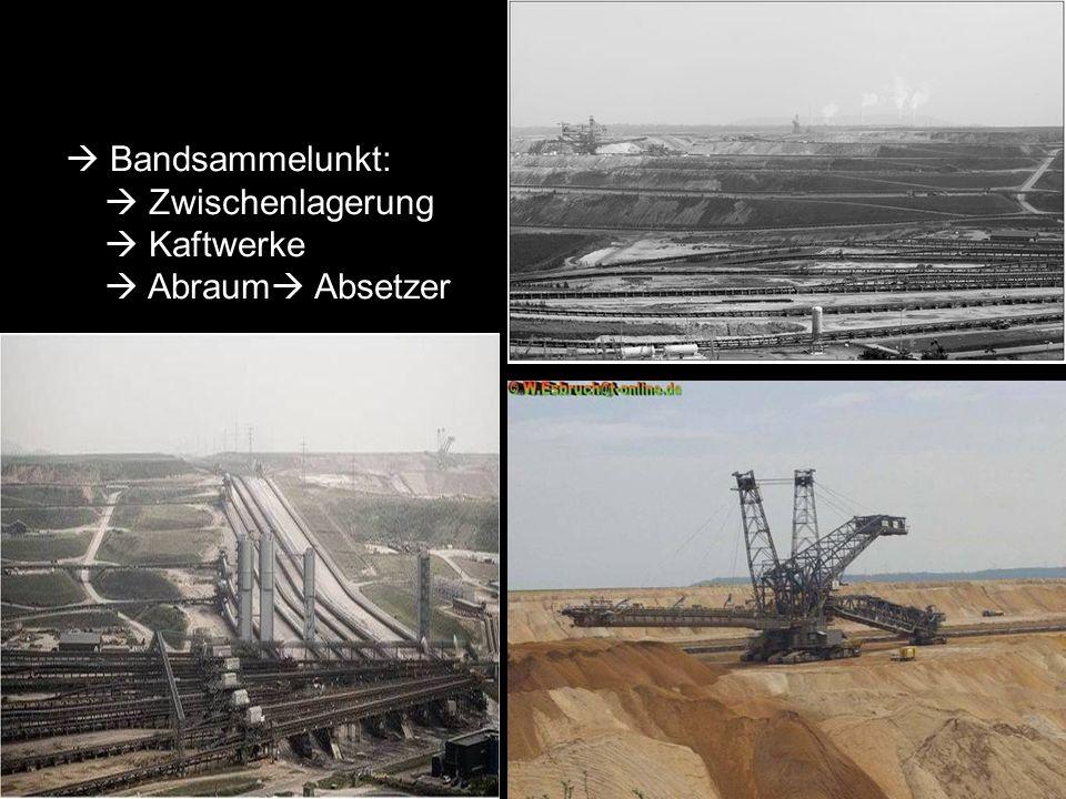 Bandsammelunkt: Zwischenlagerung Kaftwerke Abraum Absetzer