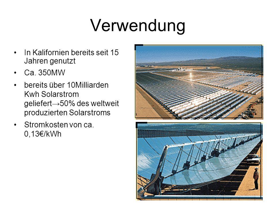 Verwendung In Kalifornien bereits seit 15 Jahren genutzt Ca.