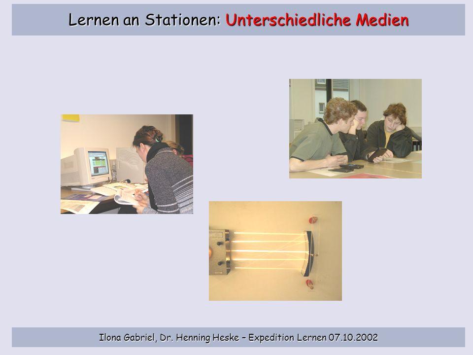 Ilona Gabriel, Dr. Henning Heske – Expedition Lernen 07.10.2002 Individuelle/r Lernberater/in