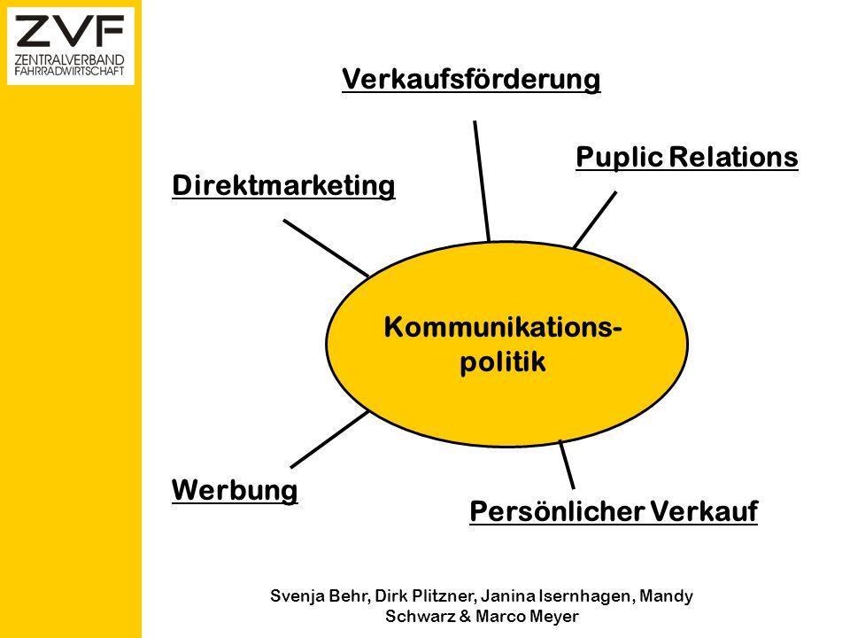 Svenja Behr, Dirk Plitzner, Janina Isernhagen, Mandy Schwarz & Marco Meyer Kommunikationspolitik Gruppe 4