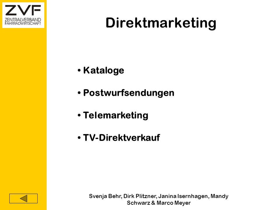 Svenja Behr, Dirk Plitzner, Janina Isernhagen, Mandy Schwarz & Marco Meyer Persönlicher Verkauf Verkaufspräsentationen Fachmessen & Veranstaltungen Te