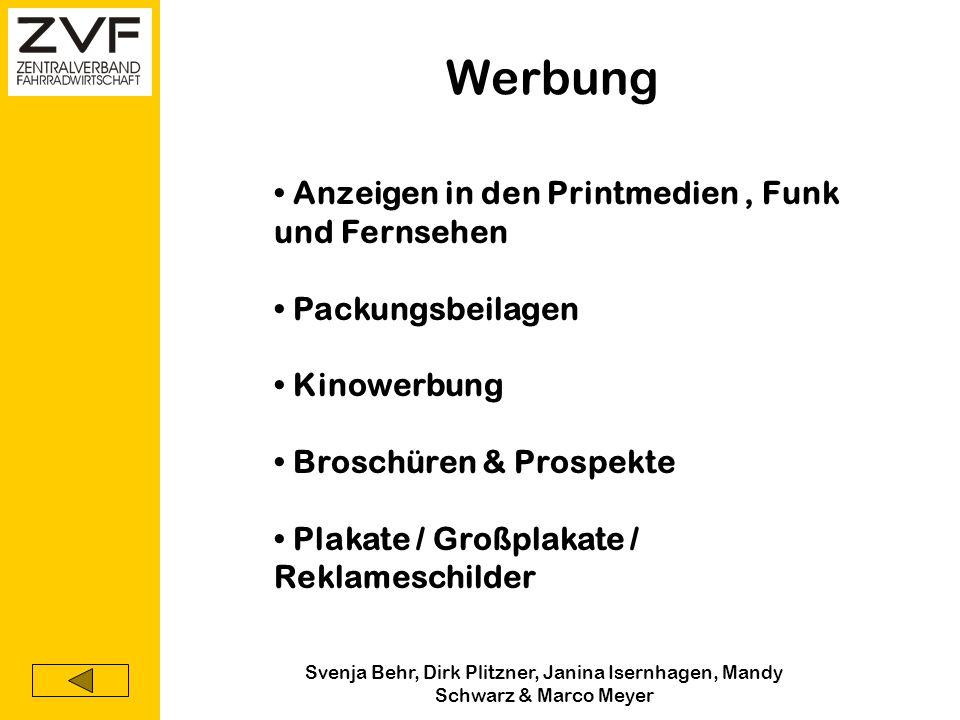 Svenja Behr, Dirk Plitzner, Janina Isernhagen, Mandy Schwarz & Marco Meyer Direktmarketing Kataloge Postwurfsendungen Telemarketing TV-Direktverkauf