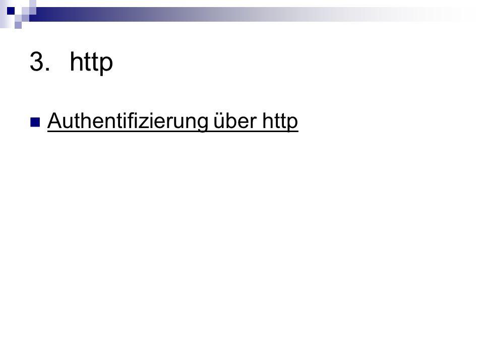 3.http Authentifizierung über http