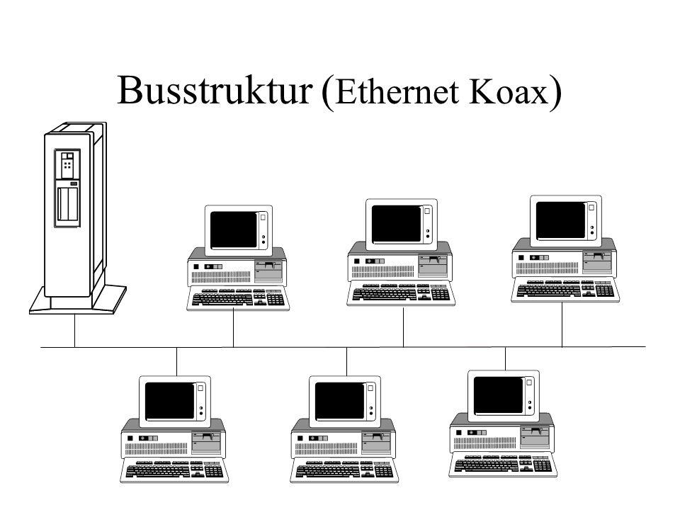 Busstruktur ( Ethernet Koax )
