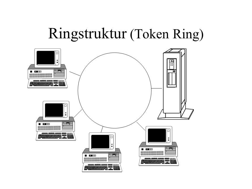 Ringstruktur (Token Ring)