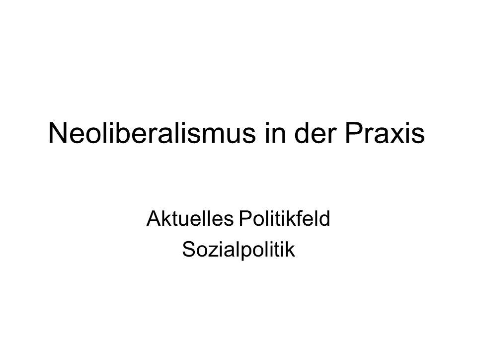 Neoliberalismus in der Praxis Aktuelles Politikfeld Sozialpolitik