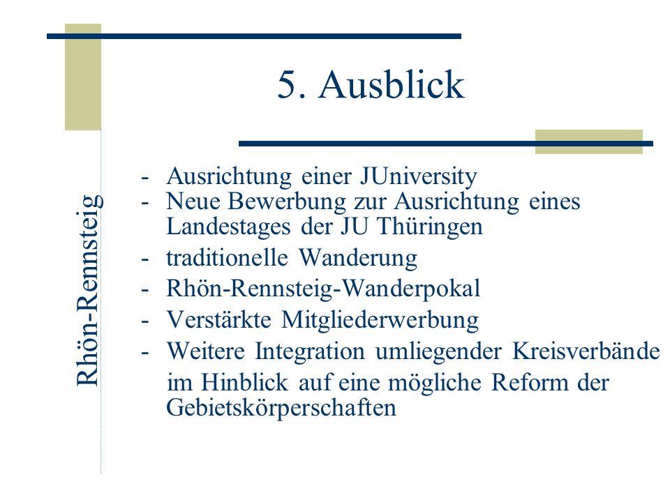 5. Ausblick -Ausrichtung einer JUniversity -Neue Bewerbung zur Ausrichtung eines Landestages der JU Thüringen -traditionelle Wanderung -Rhön-Rennsteig