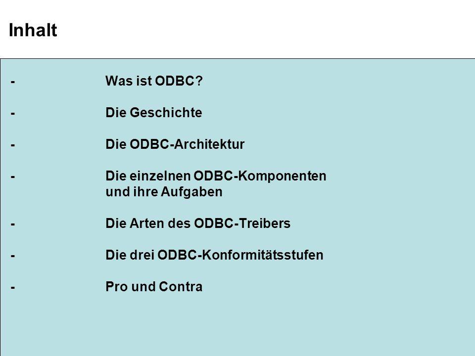 Sebastian Schoch ODBC Folie 1/10 Was ist ODBC.
