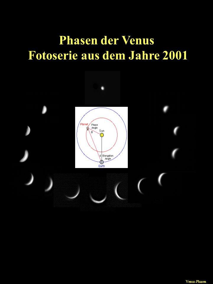 Phasen der Venus Fotoserie aus dem Jahre 2001 Venus-Phasen