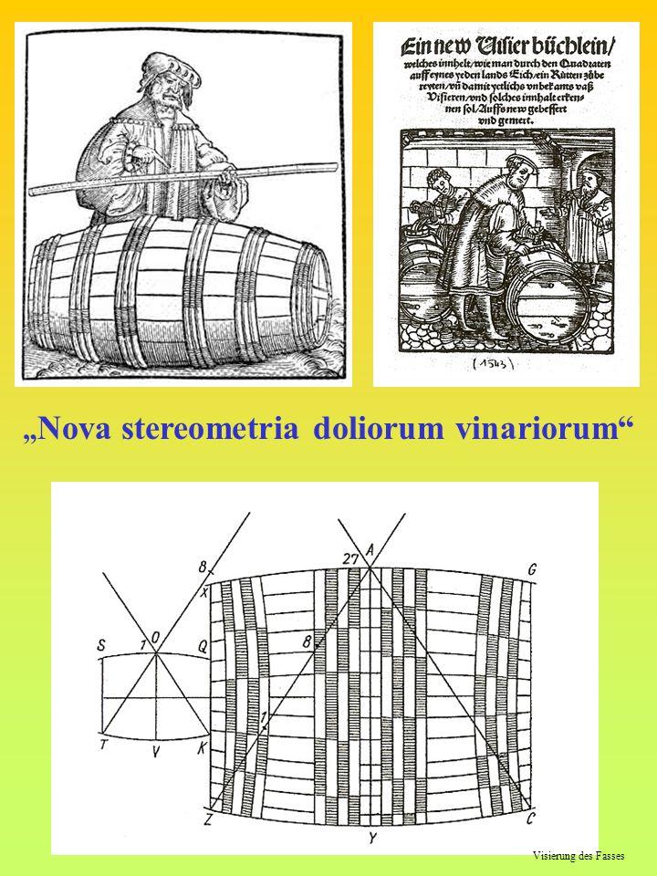 Visierung des Fasses Nova stereometria doliorum vinariorum