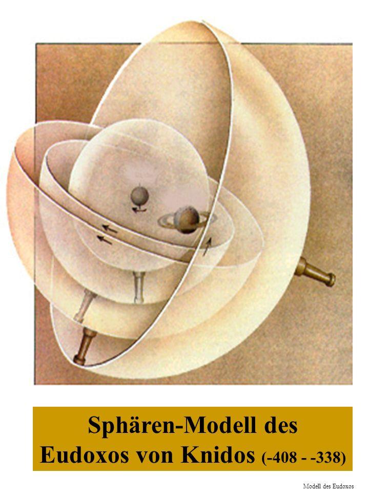 Sphären-Modell des Eudoxos von Knidos (-408 - -338) Modell des Eudoxos