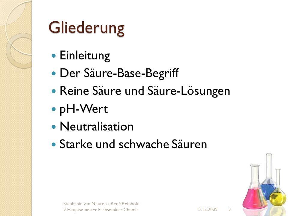 33 15.12.2009 Stephanie van Neuren / René Reinhold 2.Hauptsemester Fachseminar Chemie Resümee Säuren werden oft Eigenschaften zugesprochen Hydroxide und Laugen oft nicht genannt keine Unterschiede zwischen reinen Säuren (Moleküle) und Säure-Lösungen (z.T.