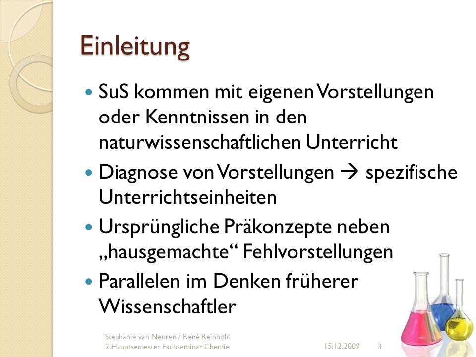Neutralisation 24 15.12.2009 Stephanie van Neuren / René Reinhold 2.Hauptsemester Fachseminar Chemie Aufgabe: Reagierende Teilchen.