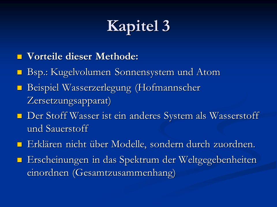 Vorteile dieser Methode: Vorteile dieser Methode: Bsp.: Kugelvolumen Sonnensystem und Atom Bsp.: Kugelvolumen Sonnensystem und Atom Beispiel Wasserzer