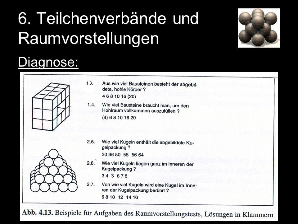 Diagnose: 6. Teilchenverbände und Raumvorstellungen 1.3.