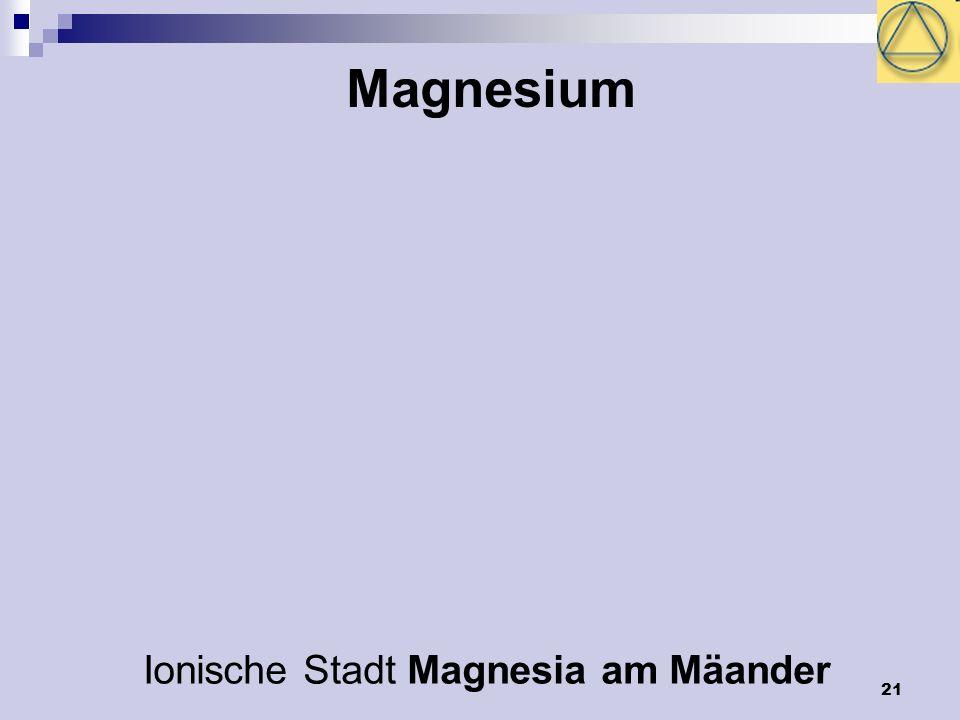 21 Magnesium Ionische Stadt Magnesia am Mäander